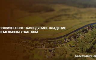 Пожизненное наследуемое владение земельным участком