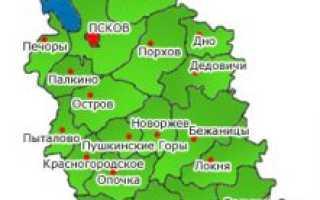 Кадастровая карта Псковской области