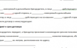 Образец договора аренды под магазин – образец, правила заполнения