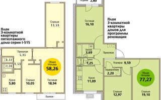 3-комнатная квартира по реновации